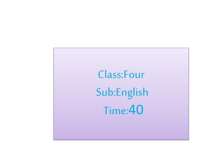 Class:Four