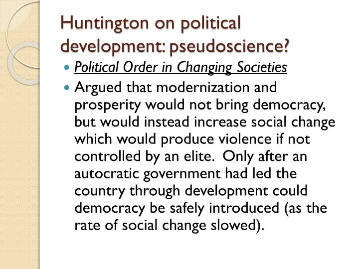 Huntington on political development: pseudoscience?