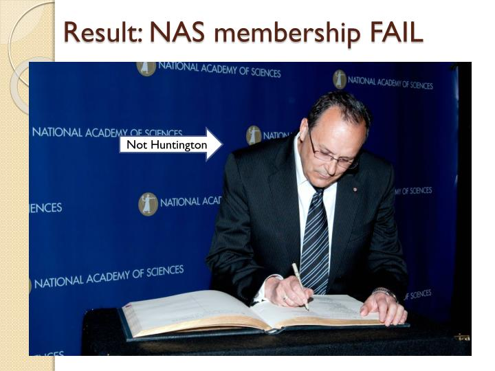 Result: NAS membership FAIL