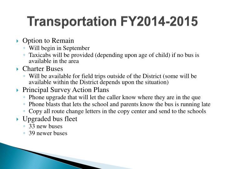 Transportation FY2014-2015