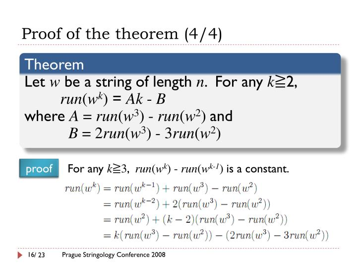 Proof of the theorem