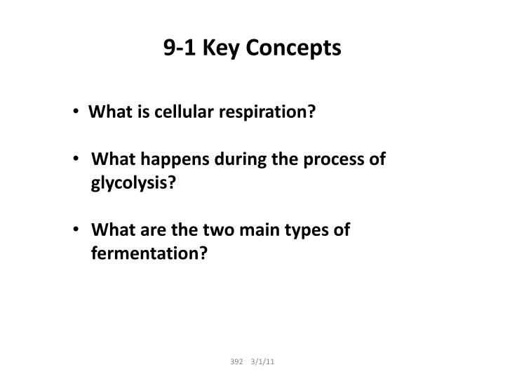 9-1 Key Concepts