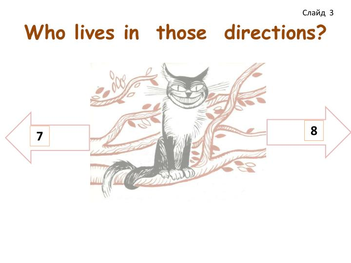 Who lives in those directions