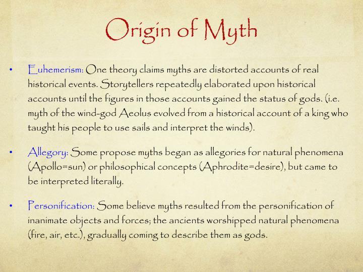 Origin of Myth