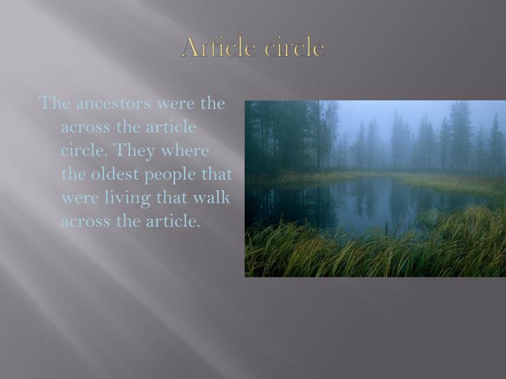 Article circle