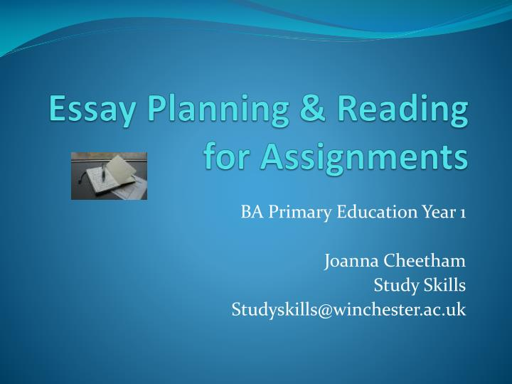presentation planning essay Planning an essay planning starts with understanding your task, how much time you have, the number of words you have to write and what direction you're going to take before you embark on research, give yourself realistic goals for the amount of material you need by sketching out a plan for length.