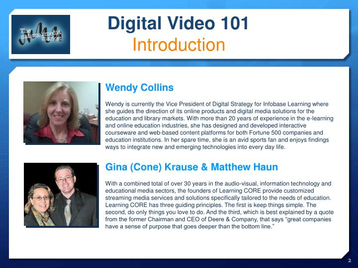 Digital video 101 introduction