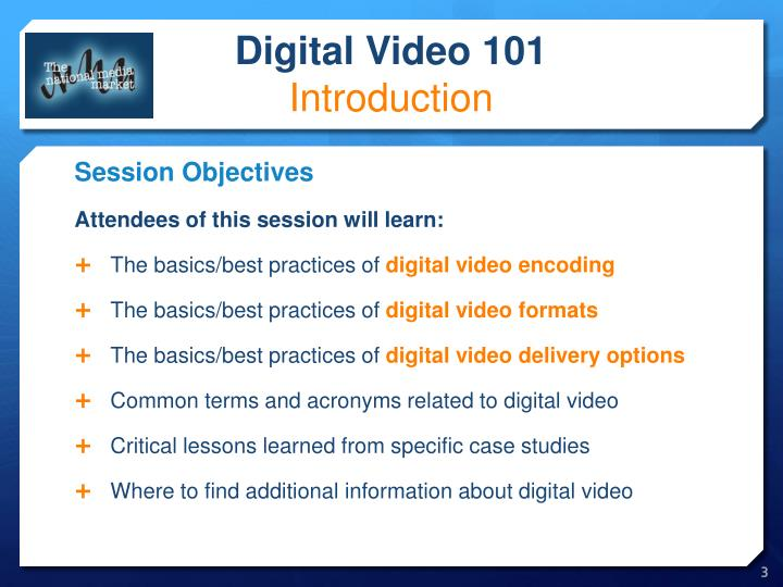 Digital video 101 introduction1