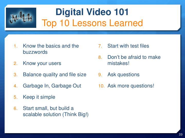 Digital Video 101