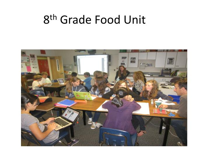 8 th grade food unit