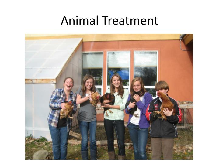 Animal Treatment