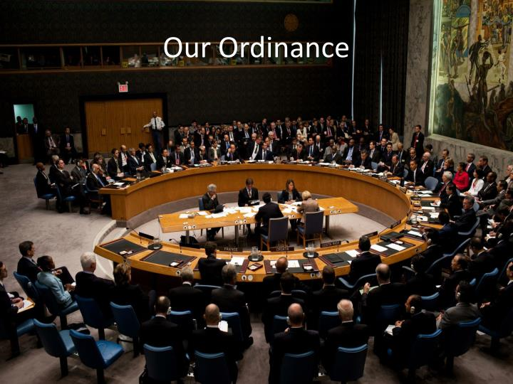 Our Ordinance