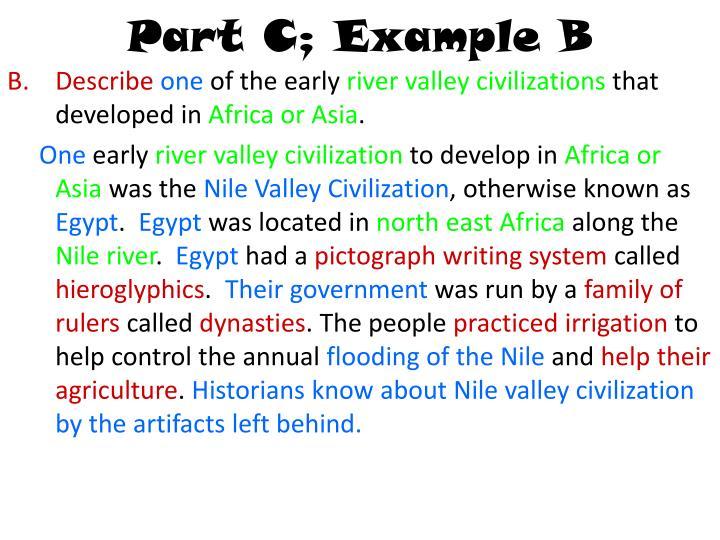 Part C; Example B