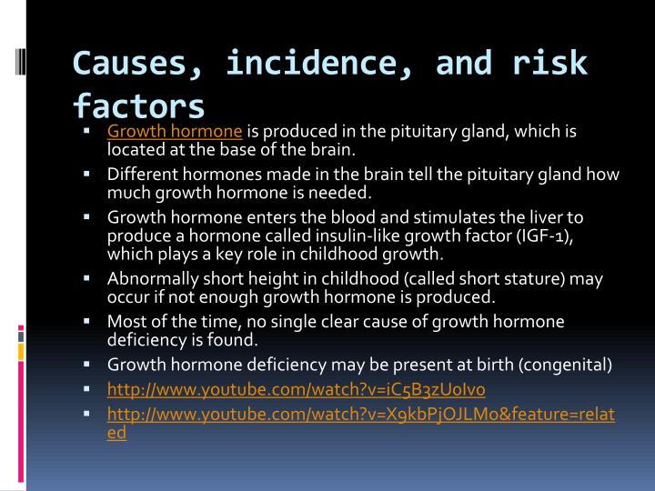 Causes, incidence, and risk factors