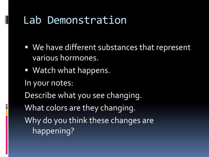 Lab Demonstration