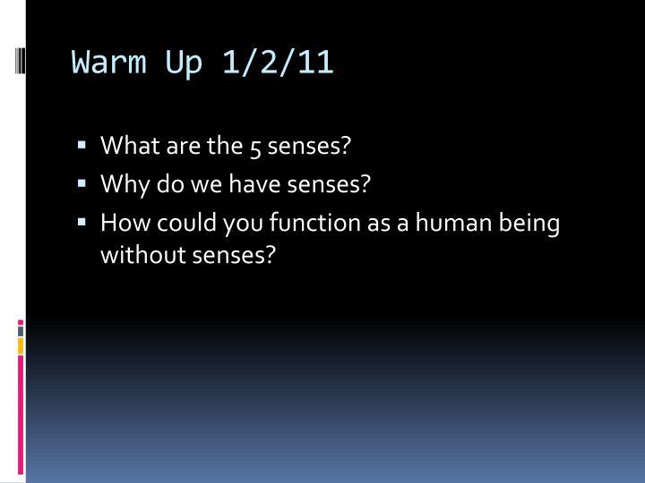 Warm Up 1/2/11