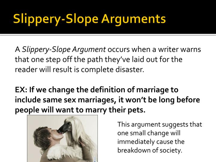 Slippery-Slope Arguments
