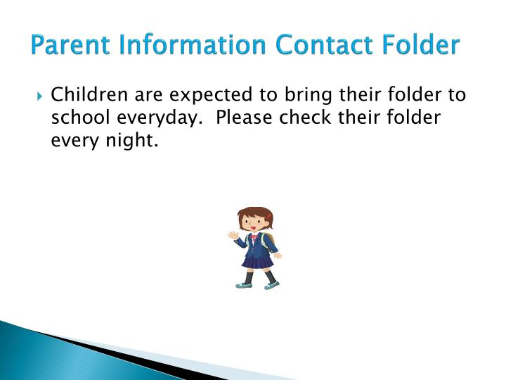 Parent Information Contact Folder