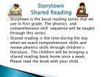 storytown shared reading