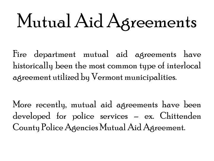 Mutual aid agreements
