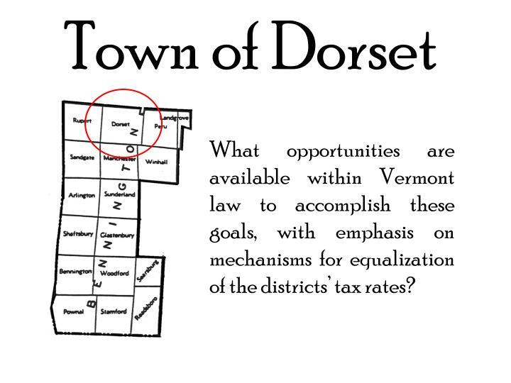 Town of Dorset