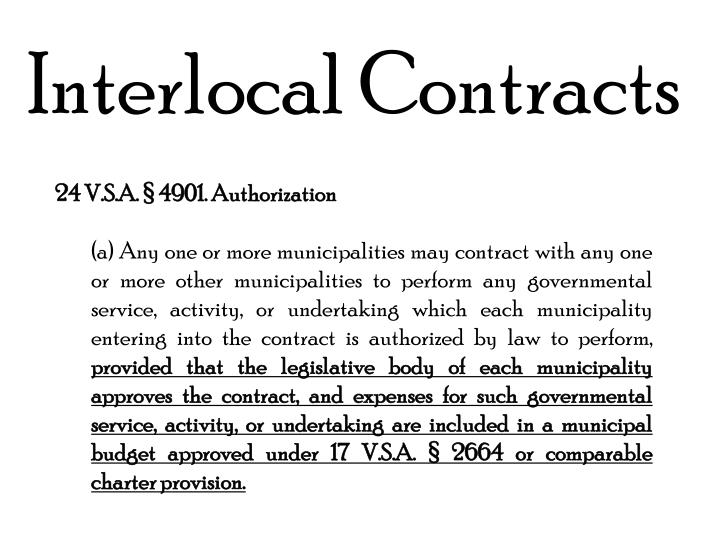 Interlocal Contracts