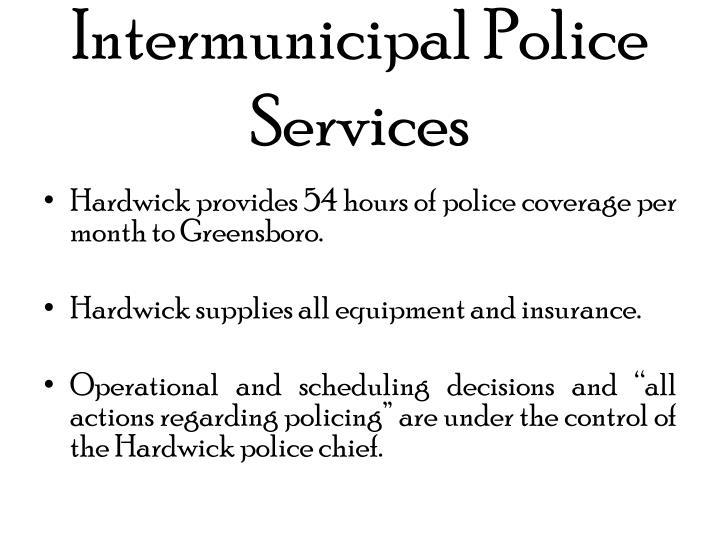 Intermunicipal Police Services