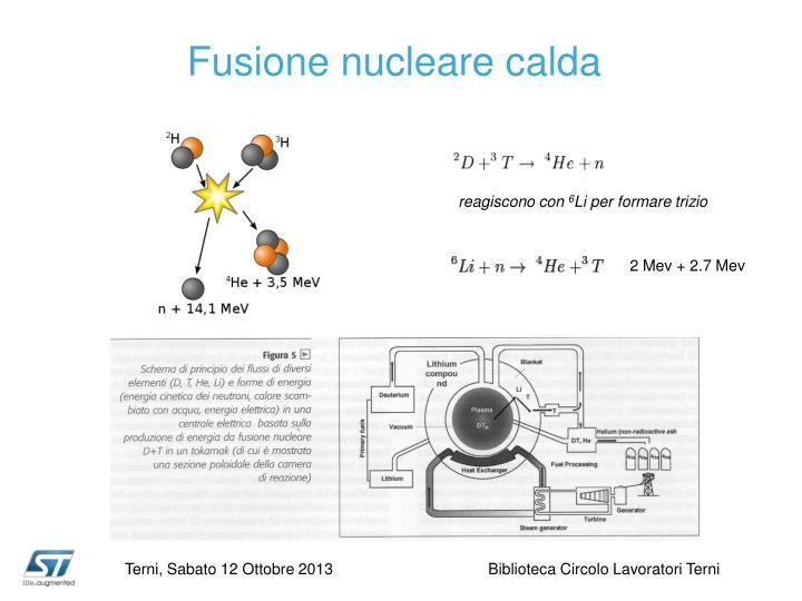 Fusione nucleare calda