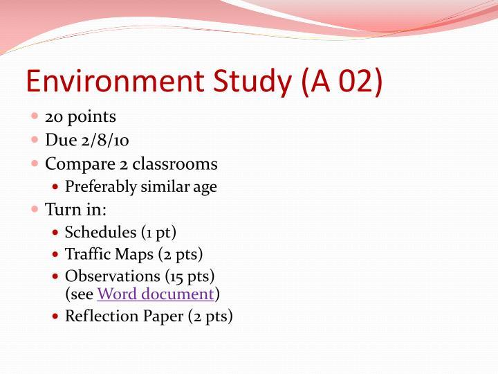 Environment Study (A 02)