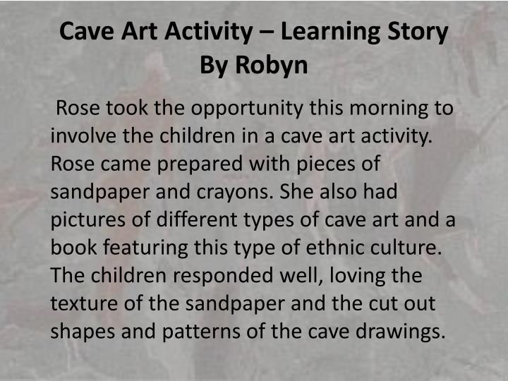 Cave Art Activity – Learning Story