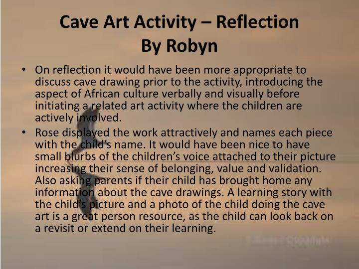 Cave Art Activity – Reflection