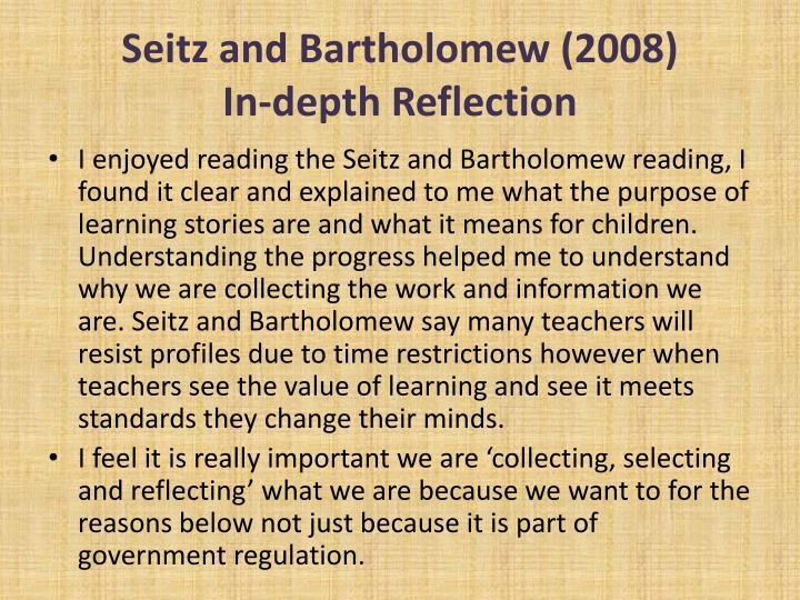 Seitz and Bartholomew (2008)