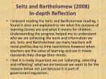 seitz and bartholomew 2008 in depth reflection