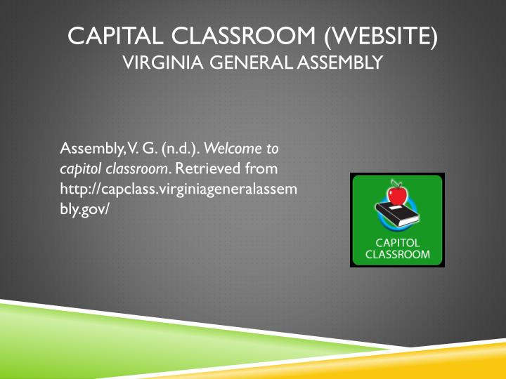 Capital Classroom (website)