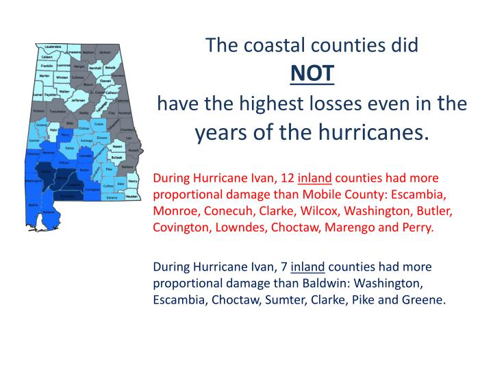 The coastal counties did