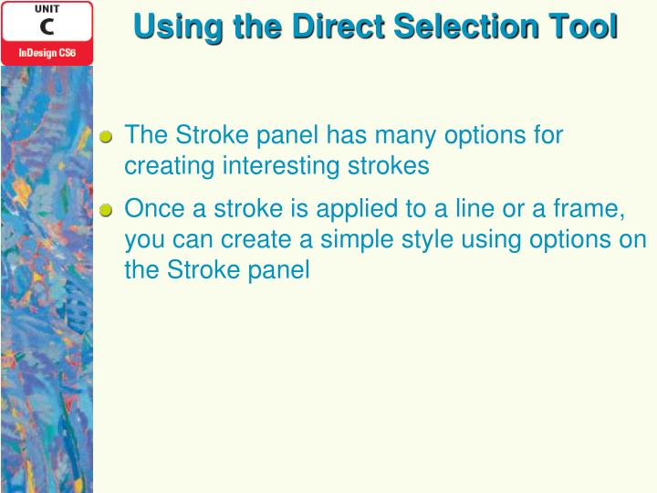 Using the Direct Selection Tool
