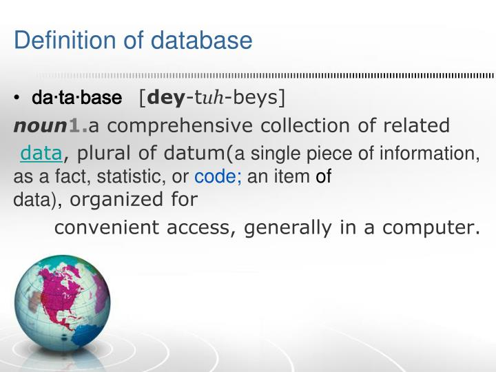 Definition of database