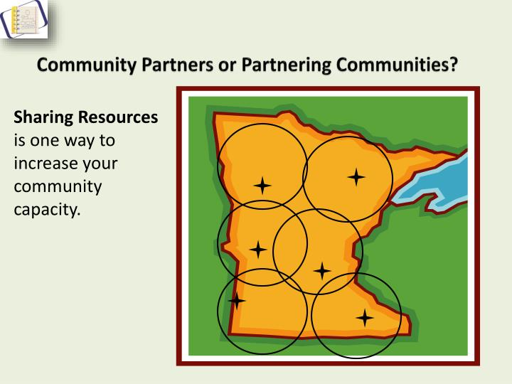 Community Partners or Partnering Communities?