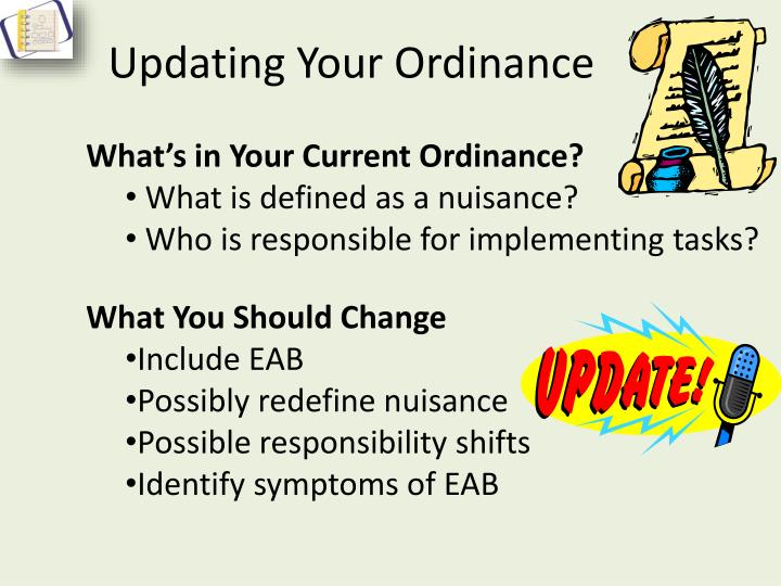 Updating your ordinance