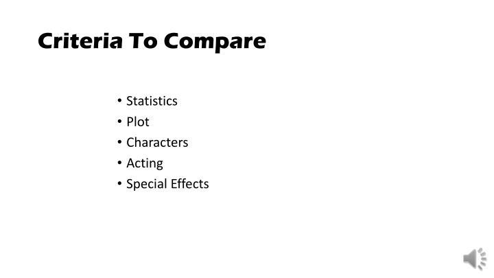 Criteria To Compare