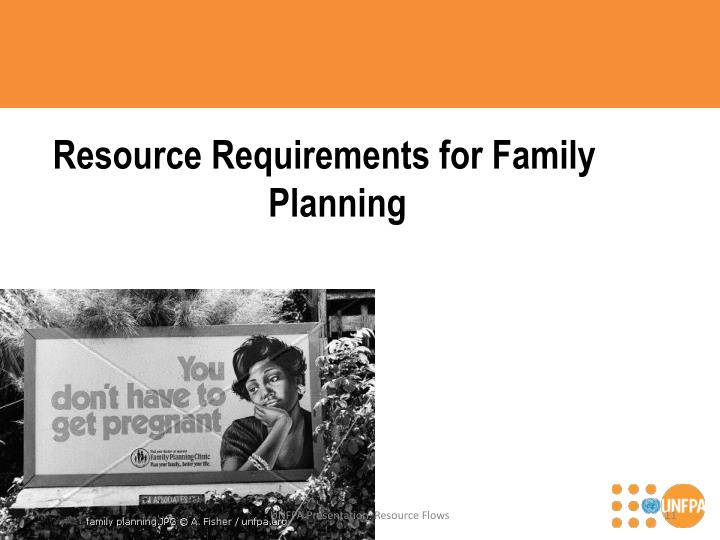Resource Requirements for Family Planning