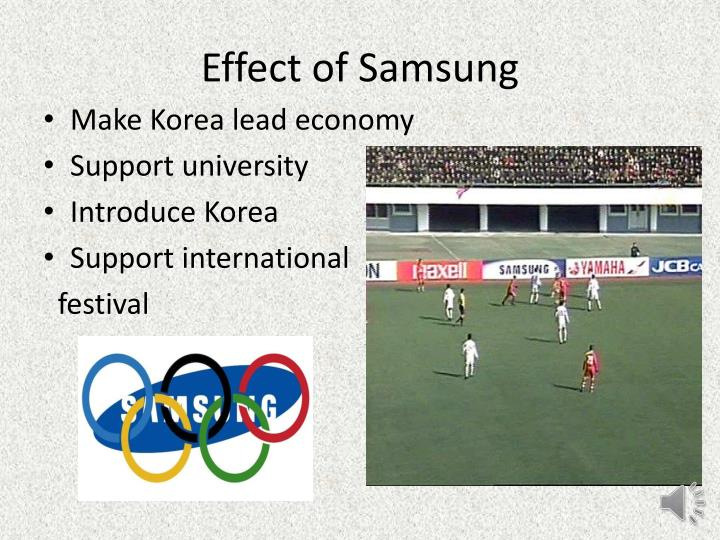 Effect of Samsung