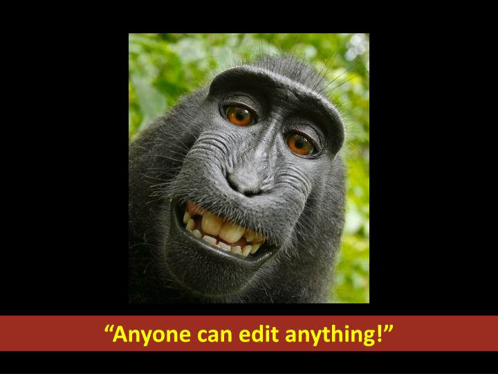 """Anyone can edit anything!"""