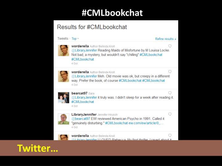 #CMLbookchat