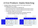 a first problem stable matching