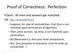 proof of correctness perfection
