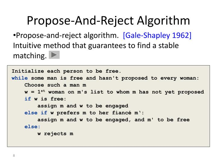 Propose-And-Reject Algorithm