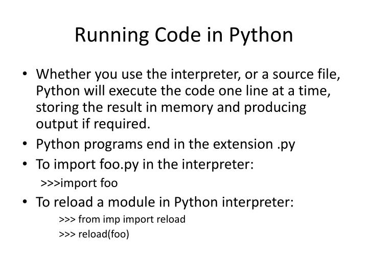 Running Code in Python