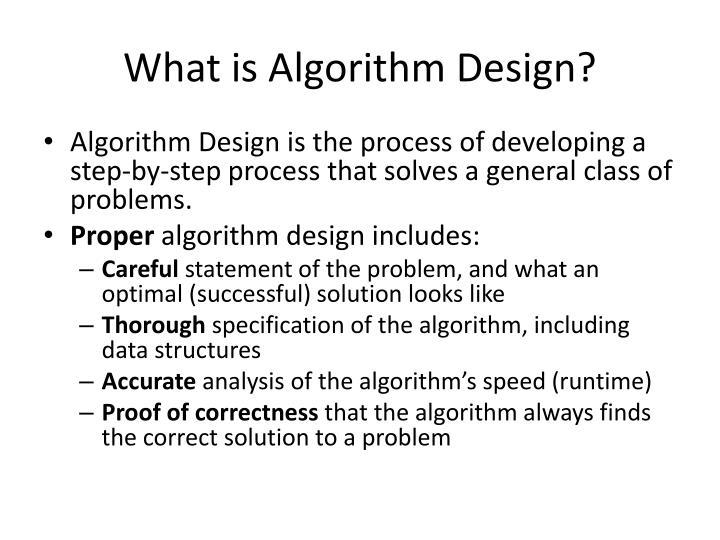 What is Algorithm Design?