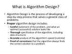 what is algorithm design